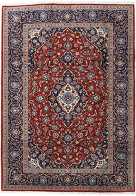 Keshan Rug 188X265 Authentic  Oriental Handknotted Dark Red/Dark Brown (Wool, Persia/Iran)