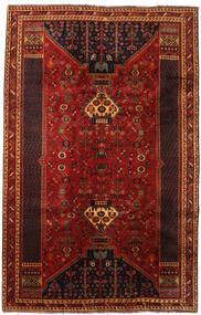 Shiraz Vloerkleed 190X300 Echt Oosters Handgeknoopt Donkerrood (Wol, Perzië/Iran)
