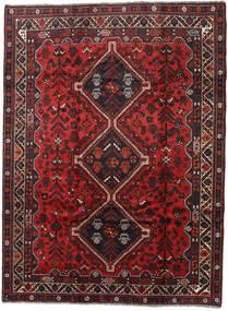 Shiraz Rug 202X270 Authentic  Oriental Handknotted Dark Red/Black (Wool, Persia/Iran)