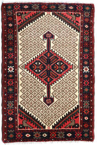 Hamadan Rug 75X113 Authentic  Oriental Handknotted Dark Brown/Light Brown (Wool, Persia/Iran)