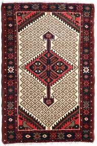 Hamadan Rug 70X115 Authentic  Oriental Handknotted Dark Brown/Light Brown (Wool, Persia/Iran)
