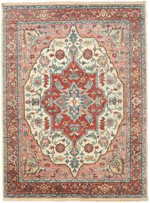 Kazak Indo Alfombra 272X364 Oriental Hecha A Mano Beige/Gris Claro Grande (Lana, India)