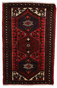 Hamadan Rug 68X112 Authentic  Oriental Handknotted Dark Red/Rust Red (Wool, Persia/Iran)