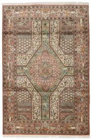 Cachemire Puri Di Seta Tappeto 126X189 Orientale Fatto A Mano (Seta, India)