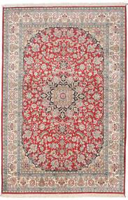 Kashmir Ren Silke Teppe 126X189 Ekte Orientalsk Håndknyttet Beige/Lys Grå (Silke, India)