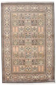 Kashmir Ren Silke Teppe 124X185 Ekte Orientalsk Håndknyttet Lys Grå/Beige (Silke, India)