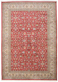 Kashmir Äkta Silke Matta 170X241 Äkta Orientalisk Handknuten Roströd/Ljusbrun (Silke, Indien)
