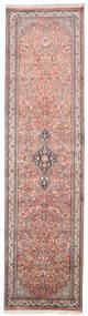 Kashmir Čistá Hedvábí Koberec 80X308 Orientální Ručně Tkaný Běhoun Světle Šedá/Béžová (Hedvábí, Indie)