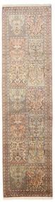 Kaszmir Czysty Jedwab Dywan 79X301 Orientalny Tkany Ręcznie Chodnik Ciemnobrązowy/Brązowy (Jedwab, Indie)