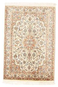 Kashmir Puur Zijde Vloerkleed 65X94 Echt Oosters Handgeknoopt Beige (Zijde, India)