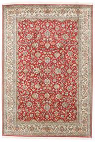 Kashmir Ren Silke Teppe 127X185 Ekte Orientalsk Håndknyttet Beige/Mørk Rød (Silke, India)