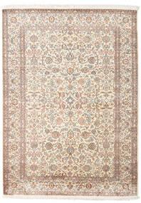 Kashmir Pure Silk Rug 158X217 Authentic  Oriental Handknotted Light Grey/Beige (Silk, India)