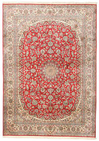 Kashmir Äkta Silke Matta 153X219 Äkta Orientalisk Handknuten Roströd/Mörkröd (Silke, Indien)