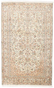 Kashmir Pure Silke Tæppe 127X202 Ægte Orientalsk Håndknyttet Beige/Lysegrå (Silke, Indien)