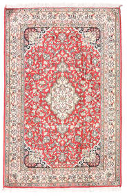 Kashmir Ren Silke Teppe 81X124 Ekte Orientalsk Håndknyttet Beige/Lys Grå (Silke, India)