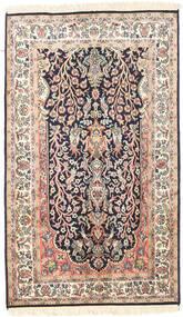 Kashmir Pure Silk Rug 75X126 Authentic  Oriental Handknotted Beige/Dark Purple (Silk, India)