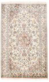 Kashmir Pure Silk Rug 82X130 Authentic  Oriental Handknotted Beige/Light Grey (Silk, India)