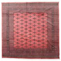 Pakistan Bukara 2Ply Alfombra 243X243 Oriental Hecha A Mano Cuadrada Rojo Oscuro/Rosa Claro (Lana, Pakistán)