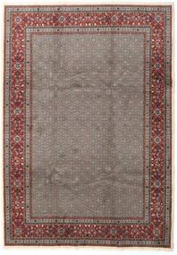 Moud Koberec 245X345 Orientální Ručně Tkaný Tmavošedý/Hnědá (Vlna/Hedvábí, Persie/Írán)