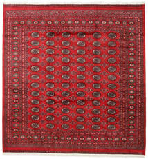 Pakistan Bokhara 2Ply Vloerkleed 245X255 Echt Oosters Handgeknoopt Vierkant Rood/Donkerrood (Wol, Pakistan)