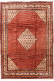 Sarough Mir Matta 214X317 Äkta Orientalisk Handknuten Roströd/Mörkbrun (Ull, Persien/Iran)