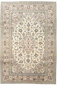 Keshan Tappeto 202X294 Orientale Fatto A Mano Grigio Chiaro/Beige (Lana, Persia/Iran)