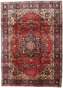 Tebriz Dywan 201X280 Orientalny Tkany Ręcznie Ciemnobrązowy/Ciemnoczerwony (Wełna, Persja/Iran)