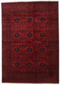 Afghan Khal Mohammadi Vloerkleed 205X289 Echt Oosters Handgeknoopt Donkerrood/Rood (Wol, Afghanistan)