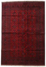 Afghan Khal Mohammadi Vloerkleed 204X298 Echt Oosters Handgeknoopt Donkerrood/Rood (Wol, Afghanistan)