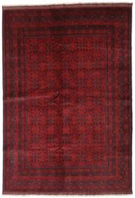Afghan Khal Mohammadi Matta 206X292 Äkta Orientalisk Handknuten Mörkröd/Mörkbrun (Ull, Afghanistan)