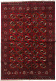 Afghan Khal Mohammadi Vloerkleed 204X290 Echt Oosters Handgeknoopt Donkerrood/Donkerbruin (Wol, Afghanistan)