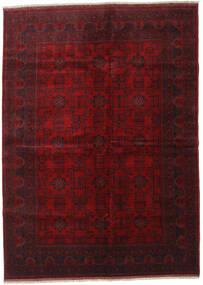Afghan Khal Mohammadi Matto 207X285 Itämainen Käsinsolmittu Tummanpunainen (Villa, Afganistan)