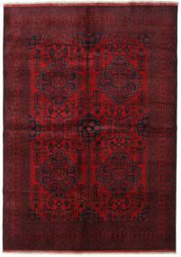 Afghan Khal Mohammadi Vloerkleed 205X287 Echt Oosters Handgeknoopt Donkerrood/Donkerbruin (Wol, Afghanistan)