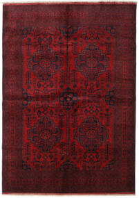 Afghan Khal Mohammadi Alfombra 205X287 Oriental Hecha A Mano Rojo Oscuro/Marrón Oscuro (Lana, Afganistán)