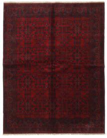 Afghan Khal Mohammadi Teppe 175X225 Ekte Orientalsk Håndknyttet Mørk Brun/Mørk Rød (Ull, Afghanistan)