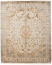 Kaschmir Reine Seide Teppich 247X306 Echter Orientalischer Handgeknüpfter Beige/Hellgrau (Seide, Indien)