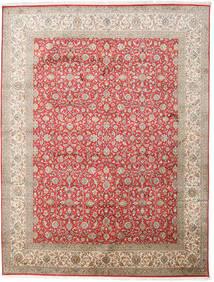 Kashmir Äkta Silke Matta 245X320 Äkta Orientalisk Handknuten Ljusgrå/Ljusbrun (Silke, Indien)
