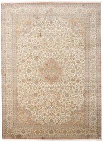 カシミール ピュア シルク 絨毯 247X341 オリエンタル 手織り ベージュ/薄い灰色 (絹, インド)