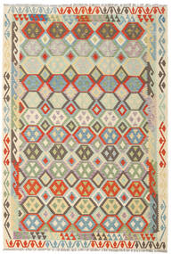 Kilim Afghan Old Style Rug 203X296 Authentic  Oriental Handwoven Beige/Light Brown (Wool, Afghanistan)
