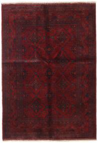 アフガン Khal Mohammadi 絨毯 134X193 オリエンタル 手織り 深紅色の/濃い茶色 (ウール, アフガニスタン)