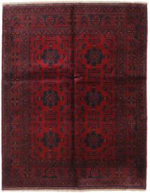 アフガン Khal Mohammadi 絨毯 155X194 オリエンタル 手織り 深紅色の (ウール, アフガニスタン)