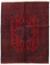 Afghan Khal Mohammadi Tappeto 155X194 Orientale Fatto A Mano Rosso Scuro/Rosso (Lana, Afghanistan)