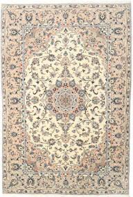 Keshan Teppich  205X300 Echter Orientalischer Handgeknüpfter Beige/Hellgrau (Wolle, Persien/Iran)