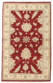 Ziegler Rug 95X148 Authentic  Oriental Handknotted Dark Red/Beige (Wool, Afghanistan)