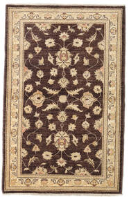 Ziegler Rug 94X148 Authentic  Oriental Handknotted Dark Brown/Dark Beige (Wool, Afghanistan)
