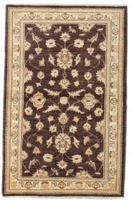 Ziegler Teppich  94X148 Echter Orientalischer Handgeknüpfter Dunkelbraun/Dunkel Beige (Wolle, Afghanistan)