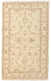 Ziegler Rug 90X147 Authentic  Oriental Handknotted Beige/Light Brown (Wool, Afghanistan)