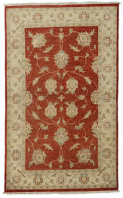 Ziegler Rug 89X148 Authentic  Oriental Handknotted Rust Red/Olive Green (Wool, Afghanistan)