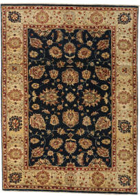 Ziegler Rug 126X174 Authentic  Oriental Handknotted Light Brown/Black (Wool, Afghanistan)