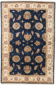 Ziegler Rug 123X188 Authentic  Oriental Handknotted Dark Blue/Beige (Wool, Afghanistan)